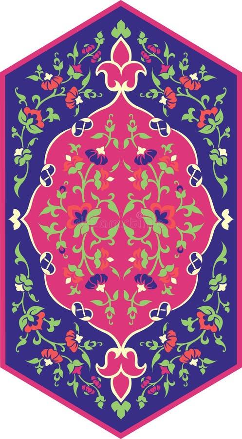 Modelo étnico floral imagen de archivo