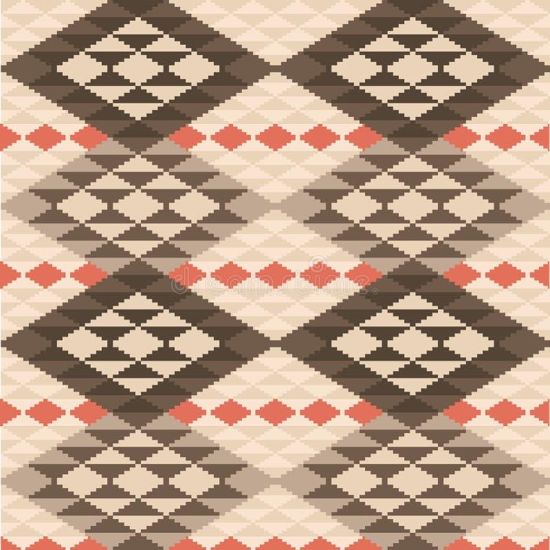 Modelo étnico geométrico abstracto de la manta stock de ilustración