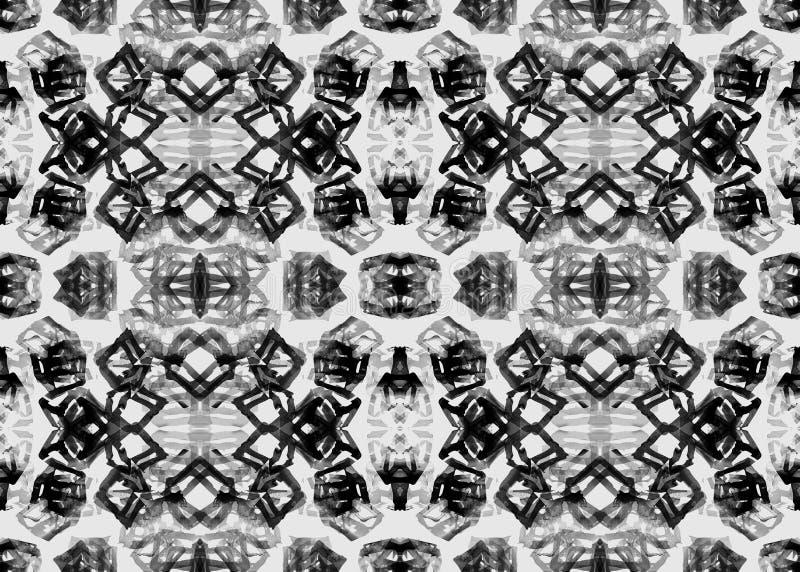 Modelo étnico Modelo inconsútil geométrico de la acuarela stock de ilustración