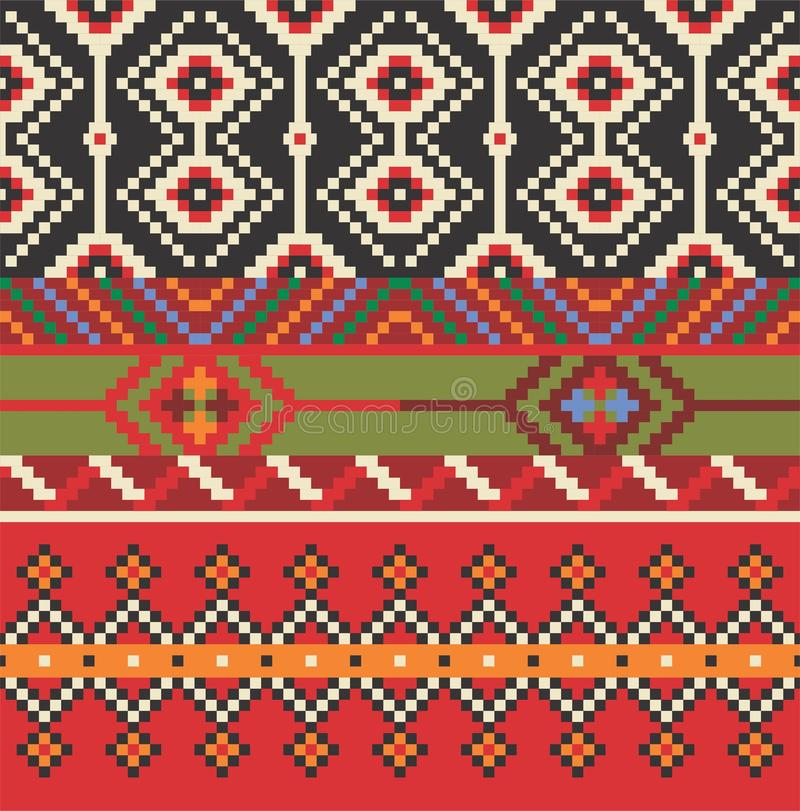Modelo étnico inconsútil Ornamento decorativo para la tela, materia textil fotografía de archivo