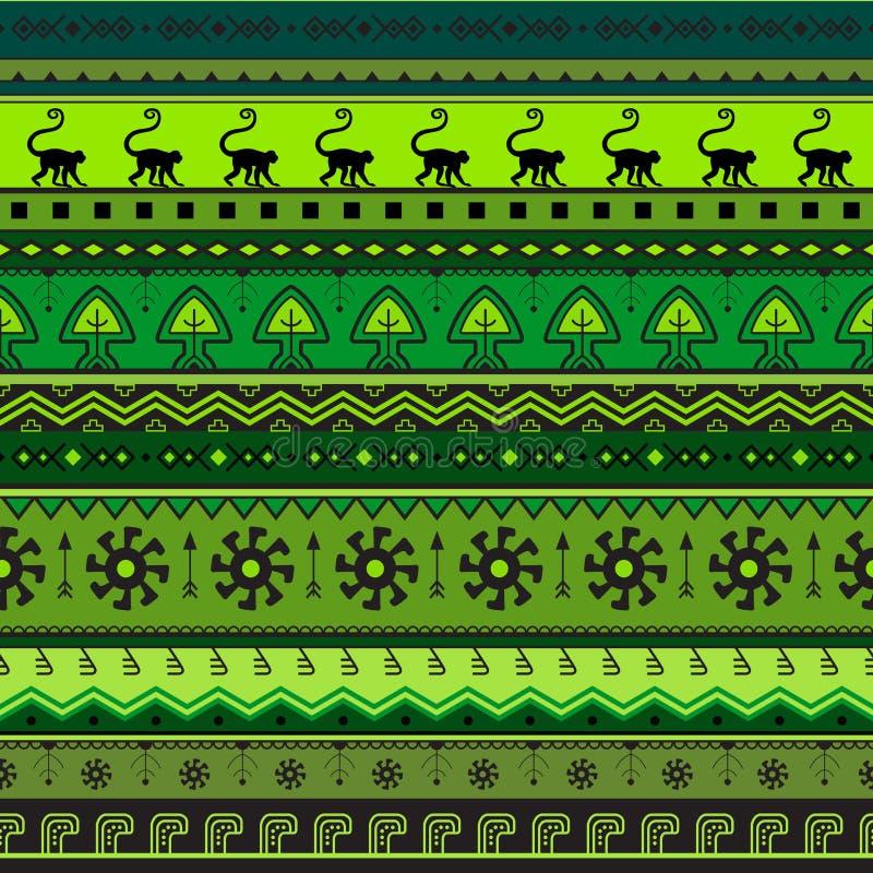 Modelo étnico a mano inconsútil Fondo rayado geométrico inconsútil tribal Puede ser utilizado para el papel pintado, página web,  ilustración del vector