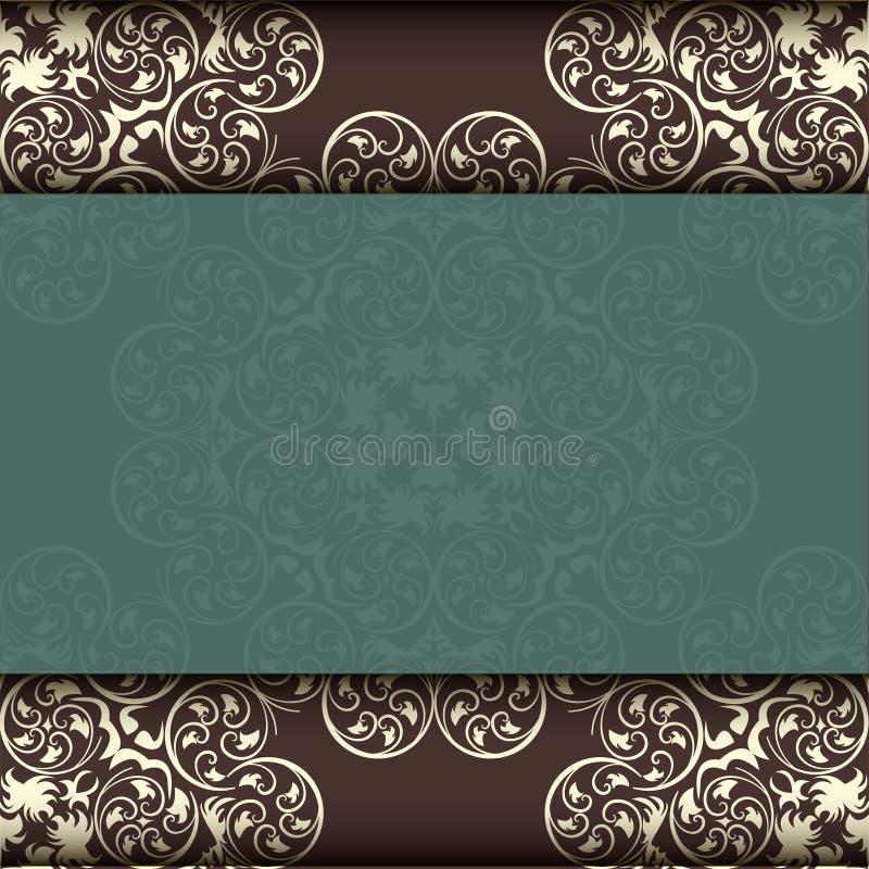 Modelo étnico Tarjeta de felicitación abstracta, fondo con las flores y hojas decorativas Para los regalos, la decoración y las i fotos de archivo libres de regalías