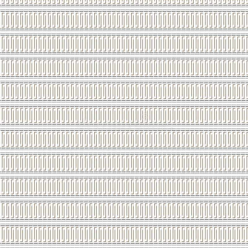 Modelo único abstracto elegante de Gray Dashed Blanket Seamless Stripe de la elegancia stock de ilustración