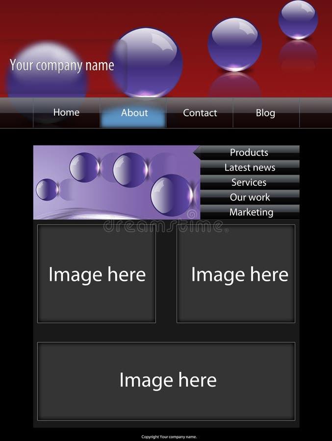Modelo 1 del Web site ilustración del vector