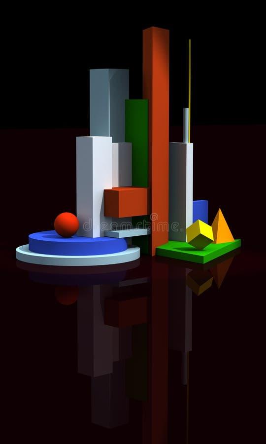 Modelo 3d arquitectónico fotos de stock