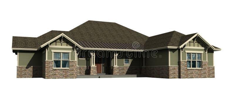 modelo 3d de uma casa nivelada imagens de stock