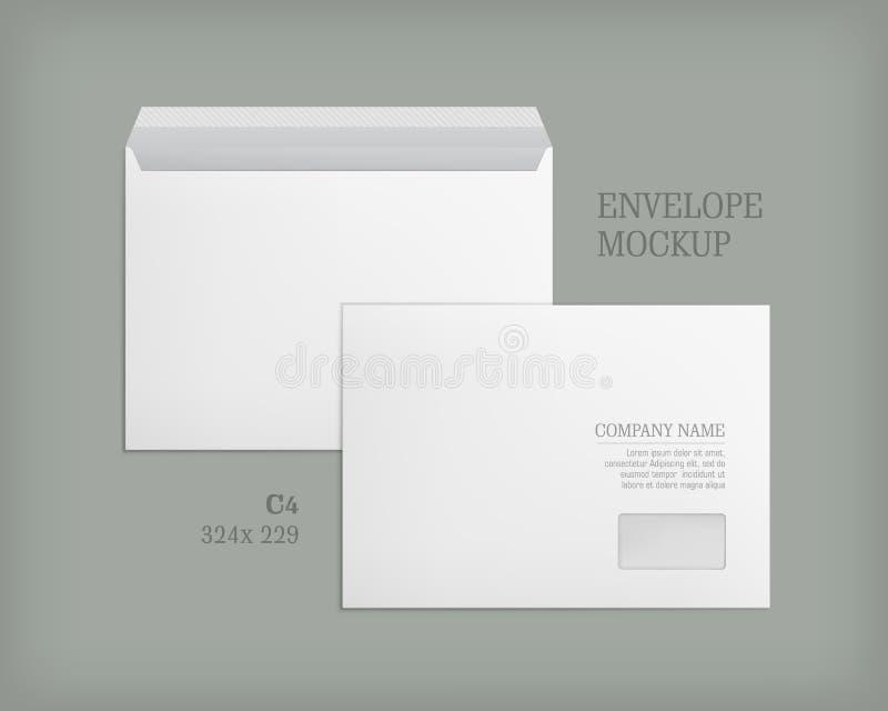Modelo aberto e envelopes fechados ilustração royalty free
