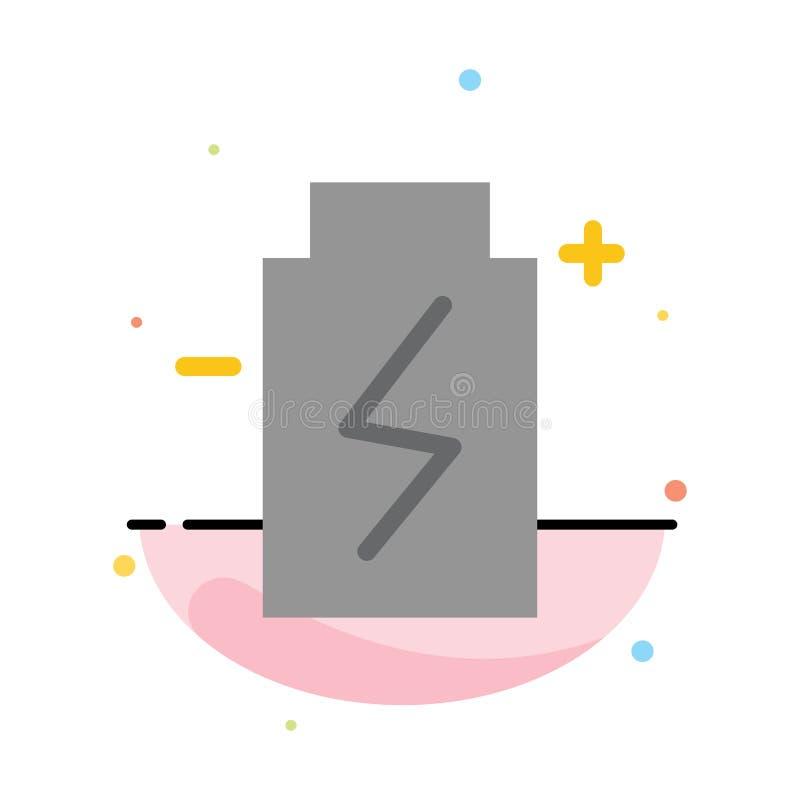 Modelo Abstract Flat Color Icon Battery, Eco, Ecology, Energy, Environment ilustração do vetor