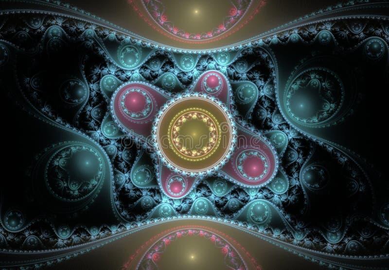 Modelo abstracto agradable del fractal libre illustration