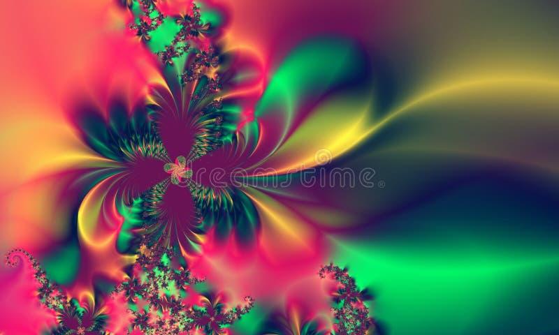 Modelo abstracto azulverde rosado del fondo libre illustration