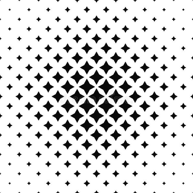 Modelo abstracto blanco y negro del polígono stock de ilustración