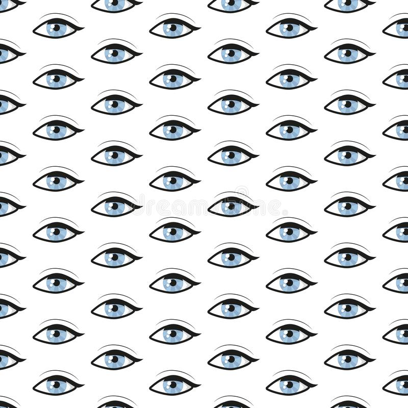 Modelo abstracto con los ojos azules Fondo del vector libre illustration