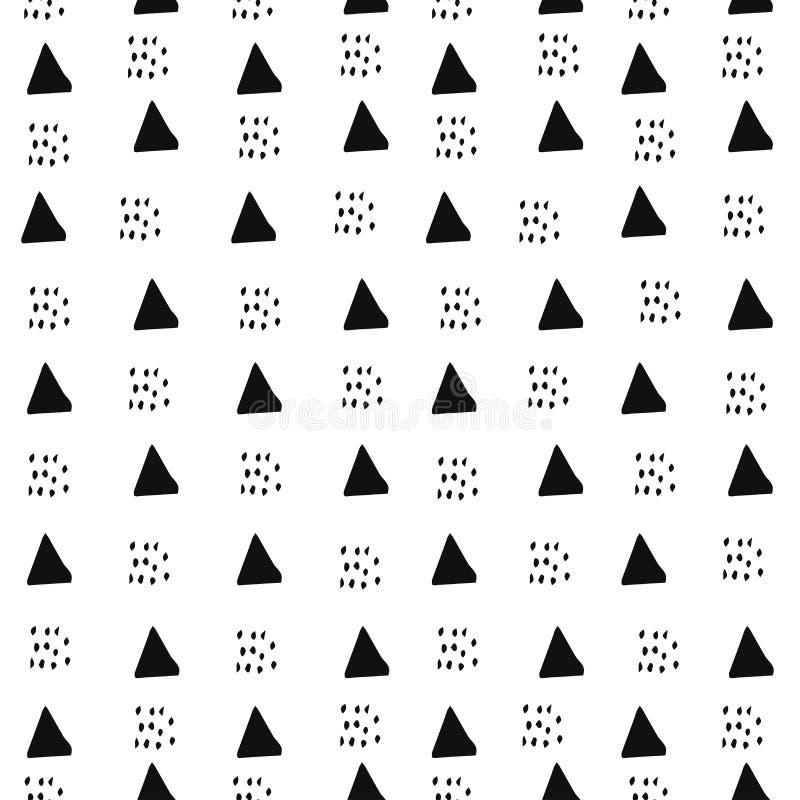 Modelo abstracto con los pequeños elementos decorativos en estilo escandinavo Ornamento geométrico ilustración del vector