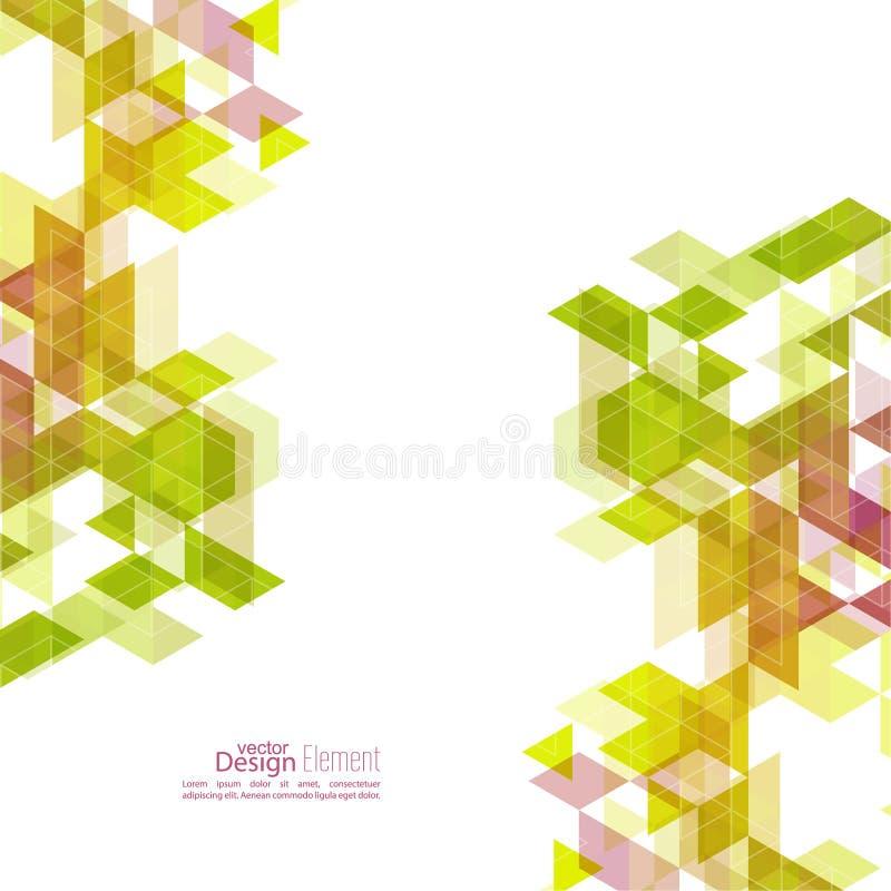 Modelo abstracto creativo del triángulo libre illustration