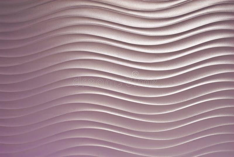Modelo abstracto de la curva de la onda en fondo de la pared fotografía de archivo