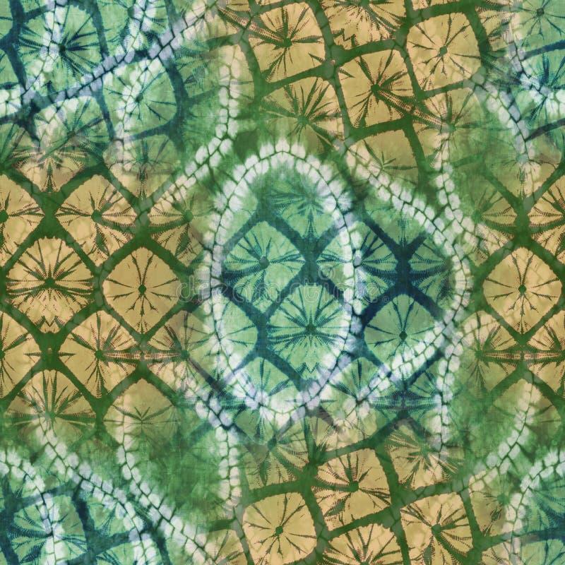 Modelo abstracto de la materia textil del teñido anudado del batik - ejemplo imágenes de archivo libres de regalías