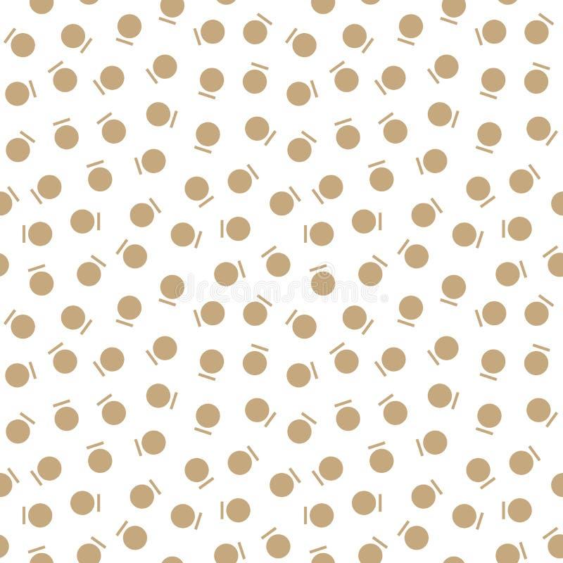 Modelo abstracto de la moda de Memphis del arte del deco del oro de la geometría libre illustration