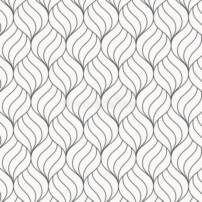 Modelo abstracto de la ondulación de la flor Repetición de textura del vector Fondo gráfico ondulado ilustración del vector
