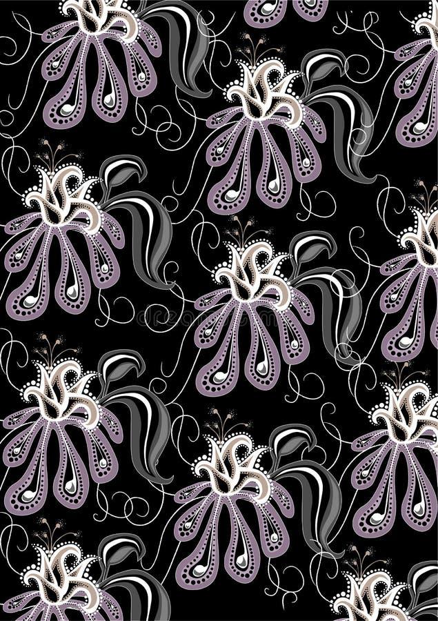 Modelo abstracto de las flores cobardes libre illustration