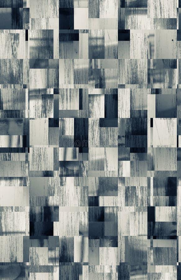 Modelo abstracto de los cuadrados stock de ilustración