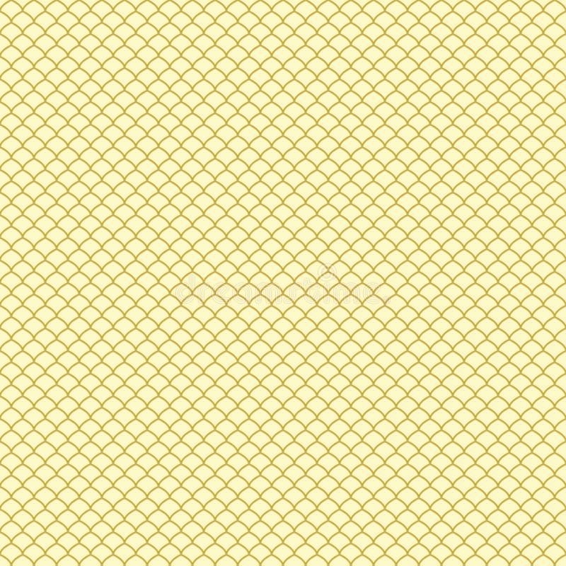 Modelo abstracto de oro inconsútil Escala de pescados stock de ilustración