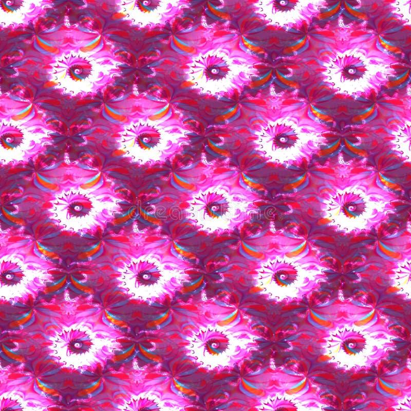 Modelo abstracto del blanco del rosa del fractal stock de ilustración