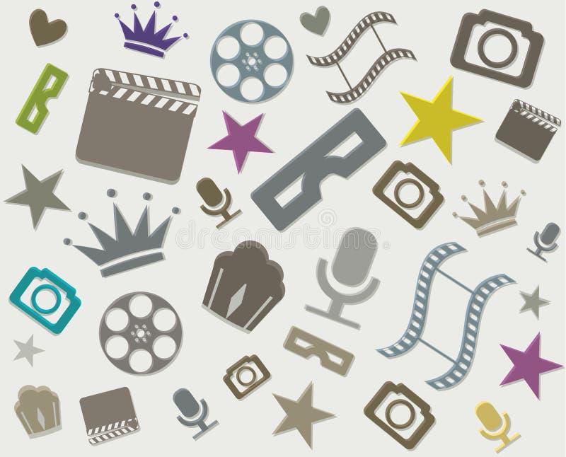 Modelo abstracto del cine stock de ilustración