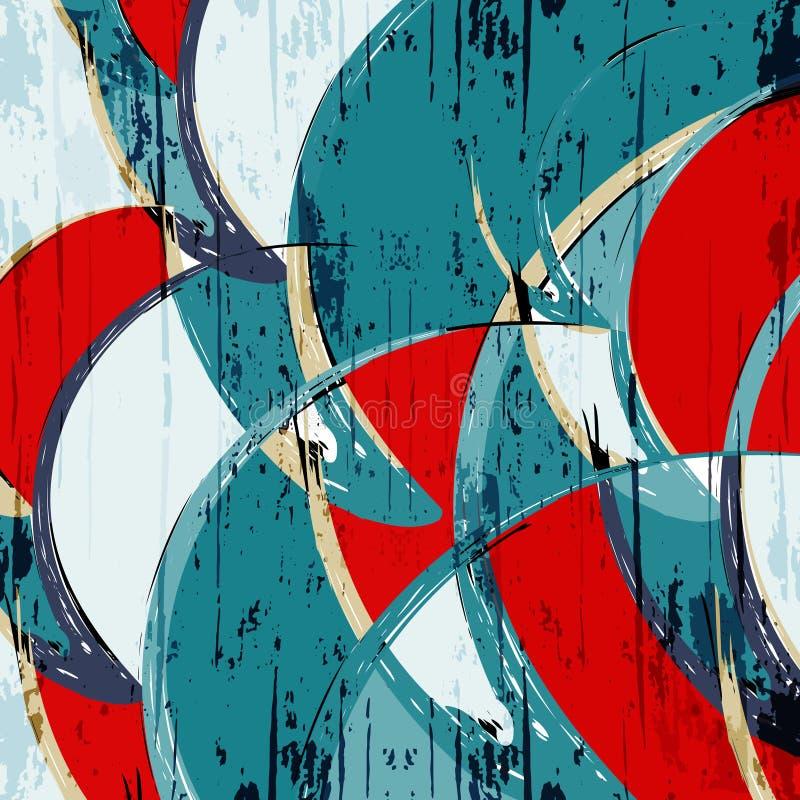 Modelo abstracto del color en el ejemplo de la calidad del estilo de la pintada para su dise?o libre illustration