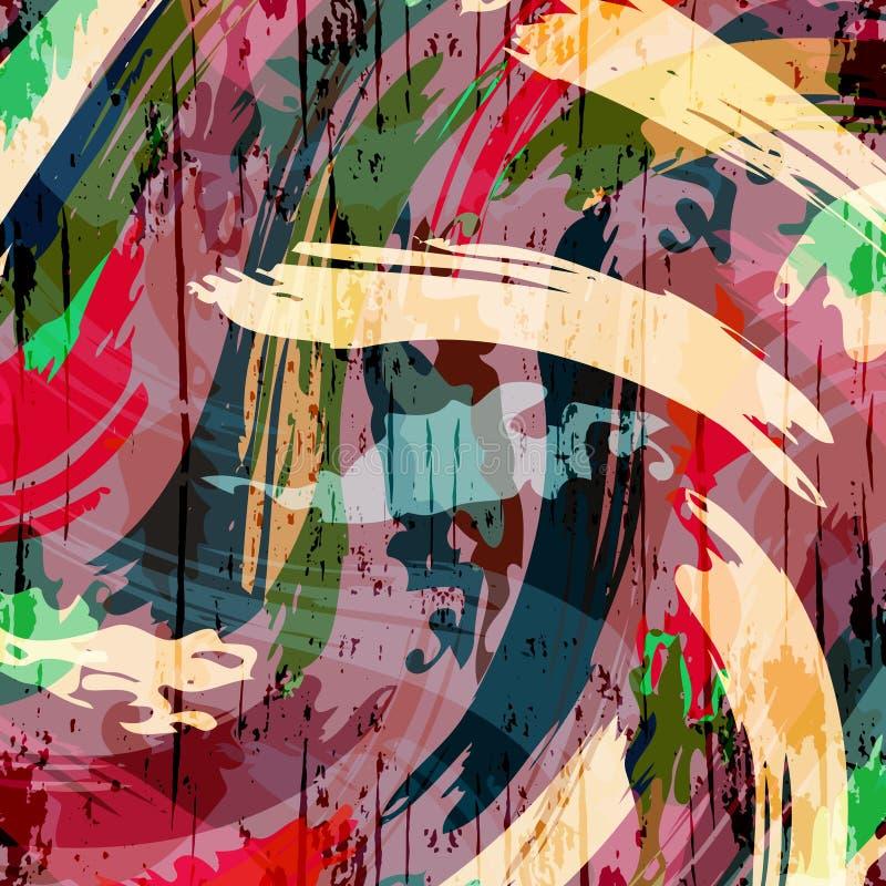 Modelo abstracto del color en el ejemplo del vector de la calidad del estilo de la pintada para su diseño stock de ilustración
