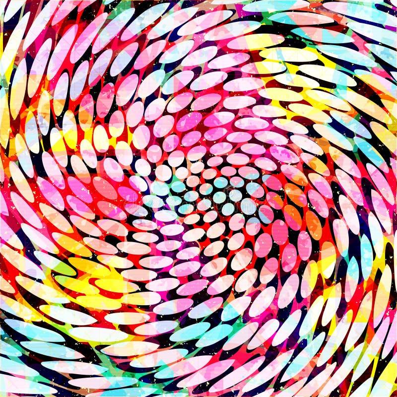 Modelo abstracto del color en el estilo de la pintada para su dise?o stock de ilustración