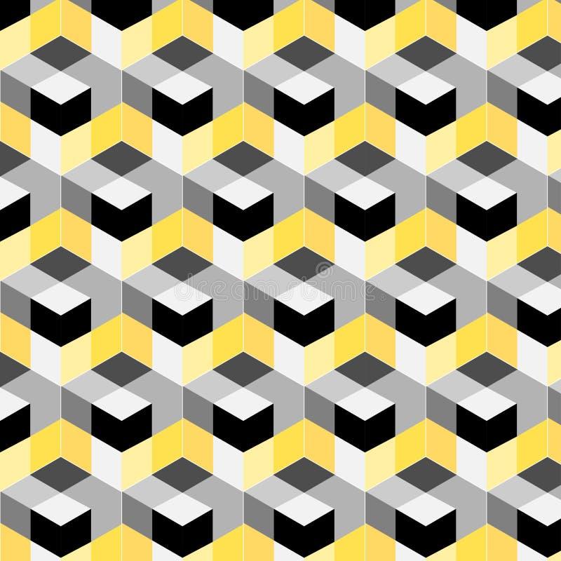 Modelo abstracto del cubo Diseño colorido, papel pintado geométrico del vector 3d, fondo del modelo del cubo ilustración del vector