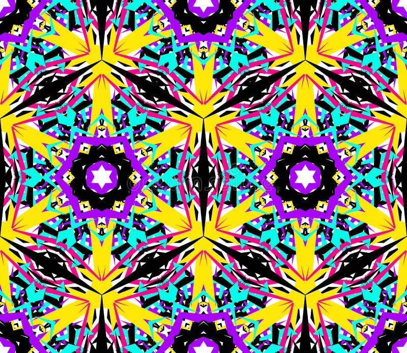 Modelo abstracto del fractal de la flor libre illustration