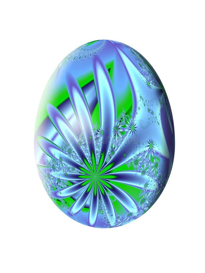 Modelo abstracto del fractal Huevo de Pascua Ilustración stock de ilustración