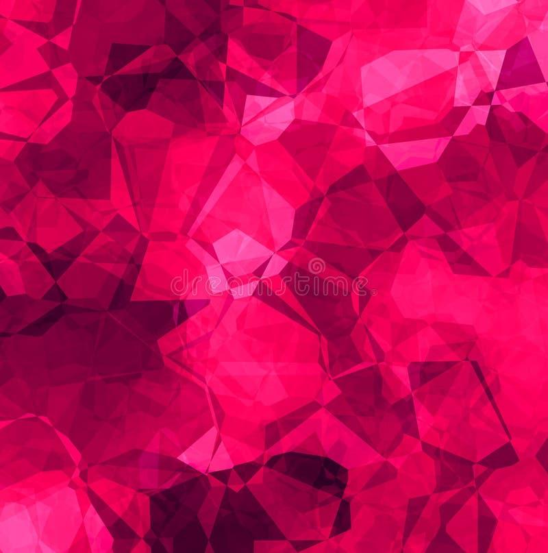 Modelo abstracto del polígono ilustración del vector