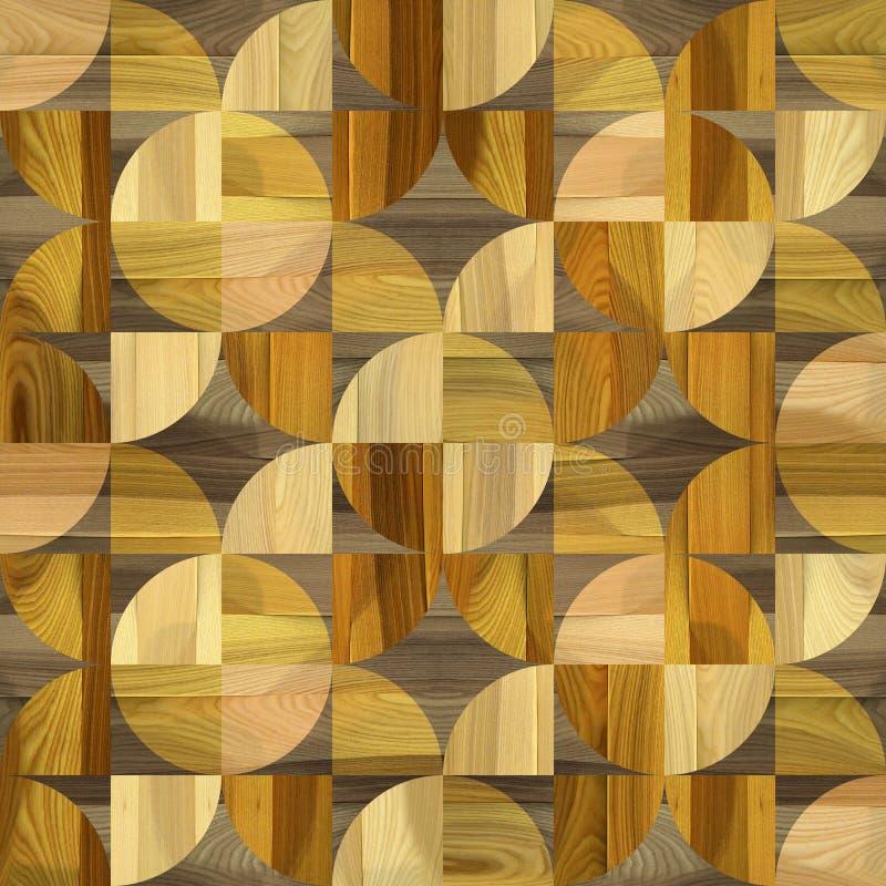 Modelo abstracto del revestimiento de madera - fondo inconsútil - piso laminado libre illustration