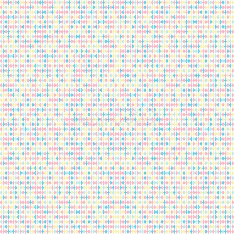 Modelo abstracto del rombo Fondo del ruido inconsútil ilustración del vector