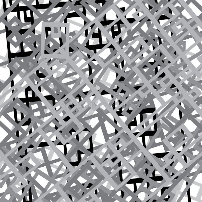 Modelo abstracto denso estricto generado por ordenador girado y multiplicado ilustración del vector