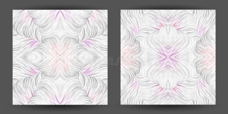 Modelo abstracto determinado inconsútil línea tracery del arte natur del pelo de la onda stock de ilustración