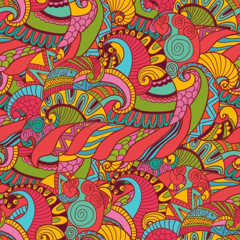 Modelo abstracto dibujado mano del ejemplo del ornamento del fondo libre illustration
