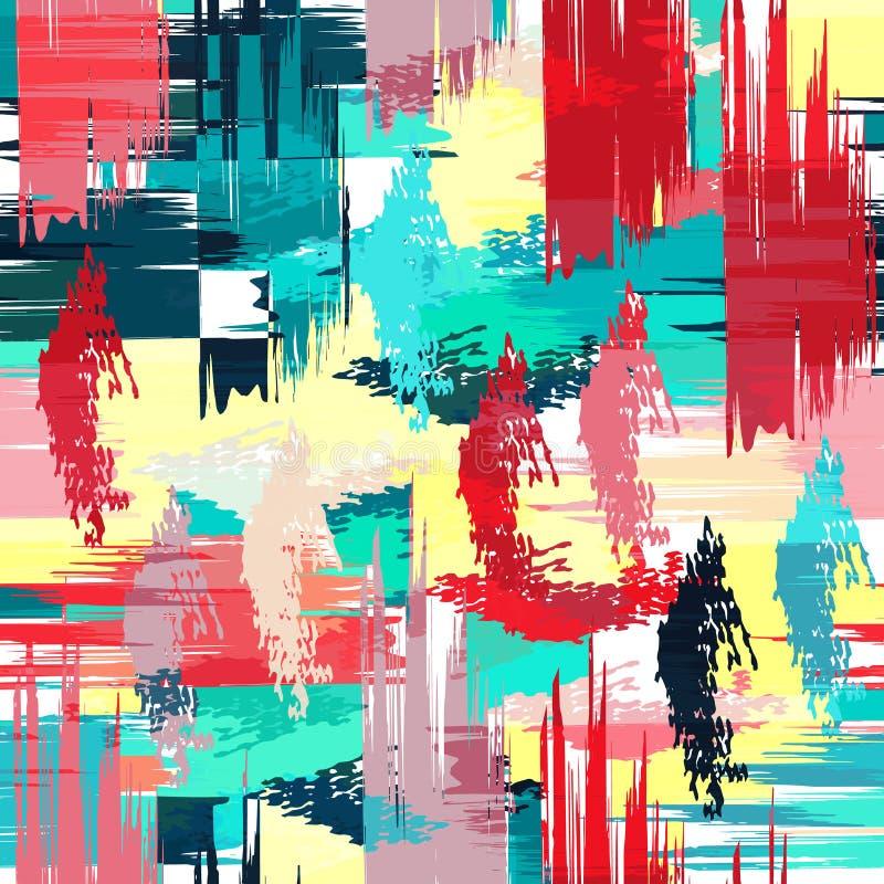 Modelo abstracto geométrico del color en estilo de la pintada ejemplo del vector de la calidad para su diseño ilustración del vector