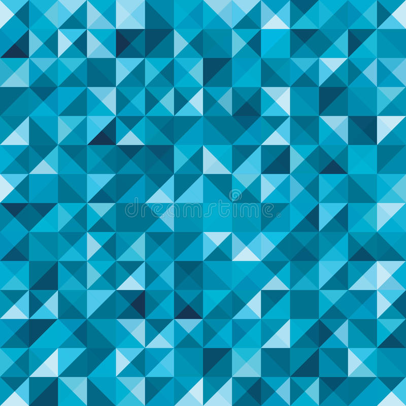 Modelo abstracto geométrico inconsútil azul stock de ilustración