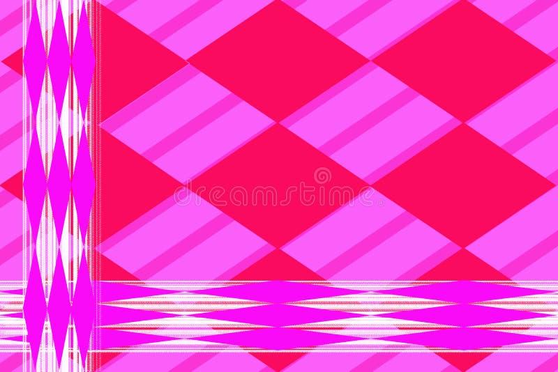 Modelo abstracto geom?trico La lila alargó Rhombus contra las líneas blancas ilustración del vector