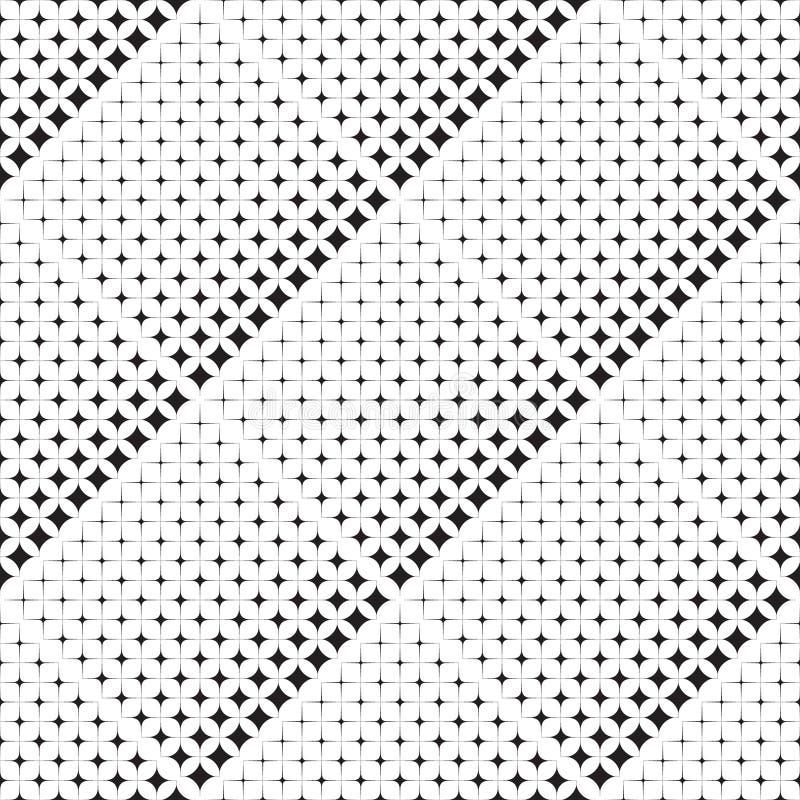 Modelo abstracto inconsútil de formas geométricas stock de ilustración