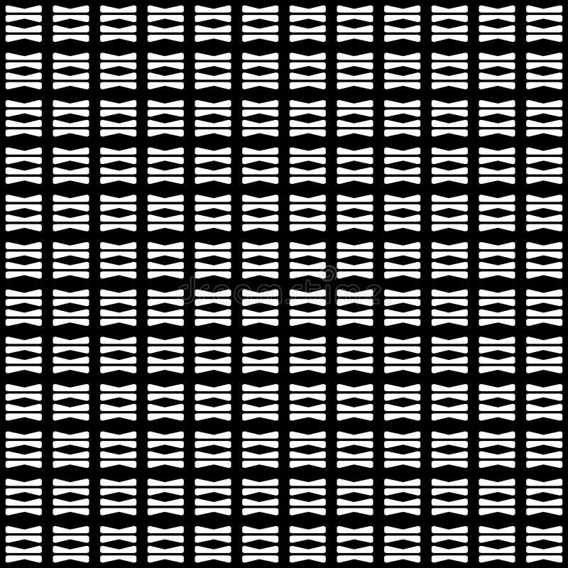 Modelo abstracto inconsútil del vector blanco y negro Papel pintado abstracto del fondo stock de ilustración