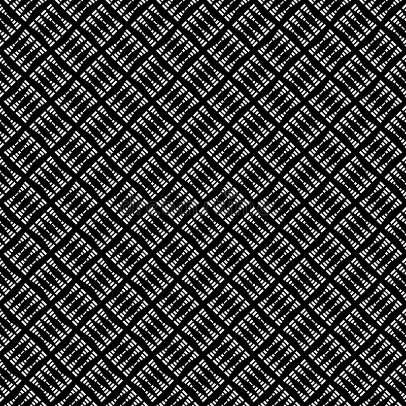 Modelo abstracto inconsútil del vector blanco y negro Papel pintado abstracto del fondo Ilustración del vector libre illustration