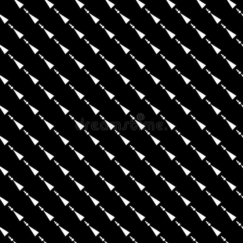 Modelo abstracto inconsútil del vector blanco y negro Papel pintado abstracto del fondo Ilustración del vector ilustración del vector
