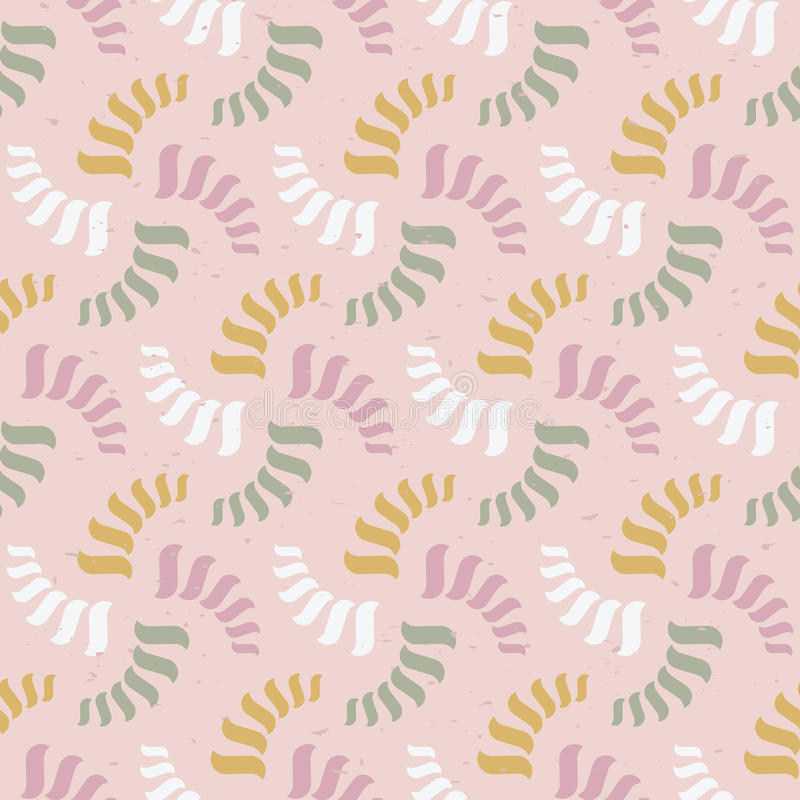 Modelo abstracto inconsútil del vector Espirales coloridos o hilos libre illustration