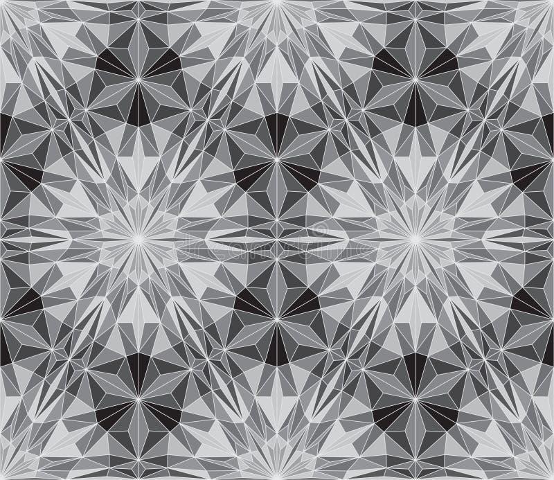 Modelo abstracto inconsútil del vector - repita el fondo geométrico del mosaico del triángulo libre illustration