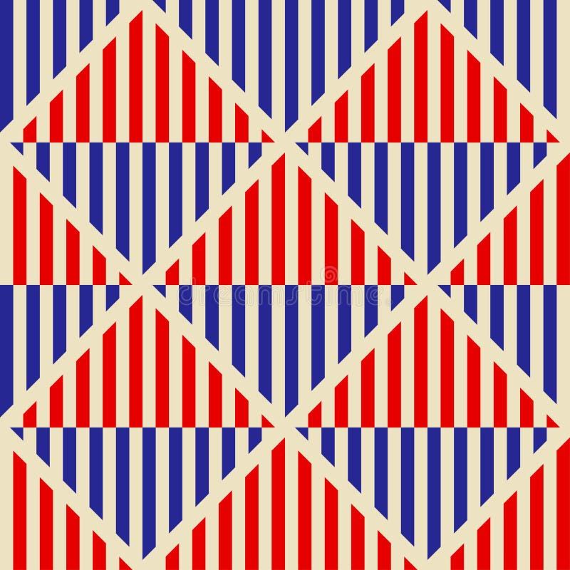 Modelo abstracto inconsútil en estilo del soviet del constructivismo Ornamento geométrico del vintage 20s del vector libre illustration