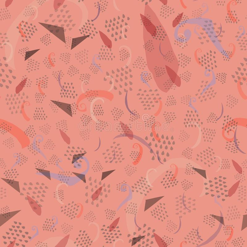 Modelo abstracto inconsútil floreciente de moda de la dalia stock de ilustración